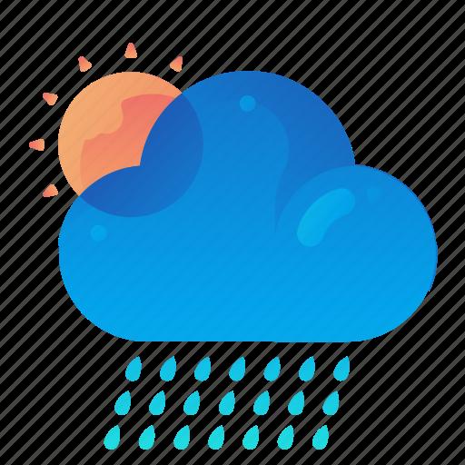 Forecast, rain, raining, sunny, weather icon - Download on Iconfinder