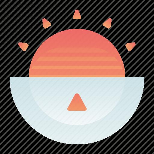 forecast, sun, sunrise, time, weather icon