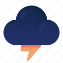 cloud, forecast, storm, thunder, weather icon