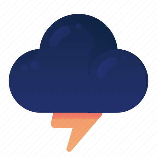 Cloud, forecast, storm, thunder, weather icon - Download on Iconfinder