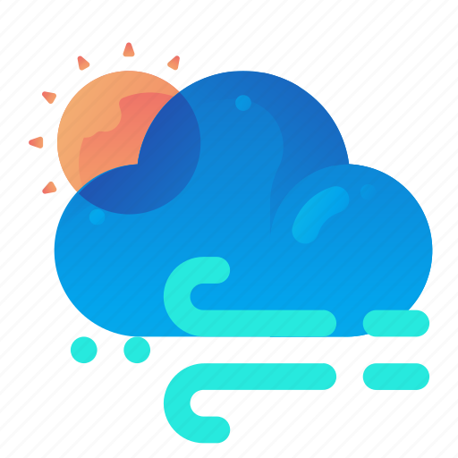 Forecast, sun, sunny, weather, windy icon - Download on Iconfinder
