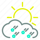 cloud, day, drizzle, runny, sun, weather icon