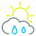 cloud, day, moderate, rain, sun, weather