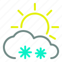 cloud, day, moderate, snow, sun, weather