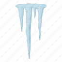 cloud, forecast, ice, icicle, nature, weather, winter icon