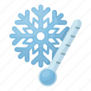 forecast, nature, thermometer, weather, cold, frost, snowflake icon