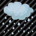 cloud, forecast, nature, precipitation, rain, weather icon