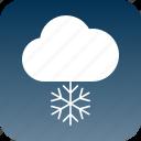 cloud, cloudsnow, cold, night, sky, snow icon