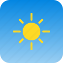 clear, cloud, cloudy, hot, sky, sun, weather icon