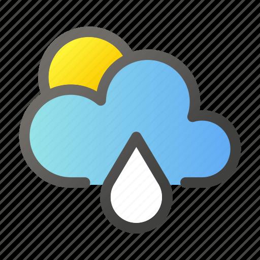 cloud, condition, forecast, rain, sun, weather icon