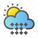 climate, cloud, condition, forecast, sun, weather, winter icon