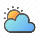 climate, cloud, condition, forecast, sun, weather icon