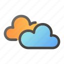 cloud, condition, forecast, sun, weather icon