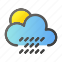 climate, cloud, condition, forecast, rain, weather icon