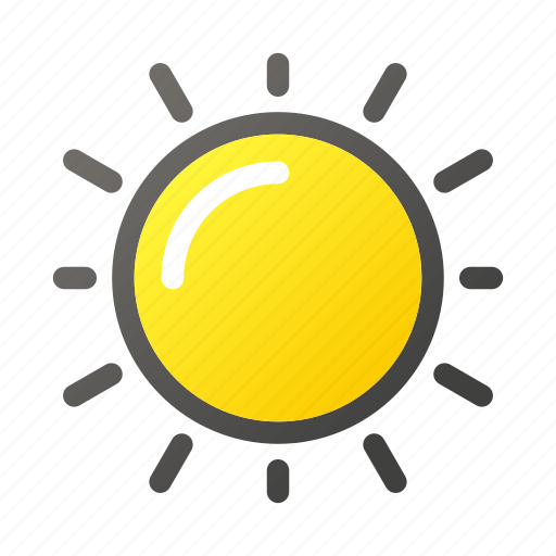 climate, condition, forecast, sun, sunny, weather icon