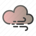 cloud, forecast, sun, weather, wind icon
