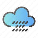 climate, forecast, sun, weather, winddrop icon
