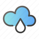 forecast, rain, rainy, weather, windy icon