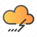 climate, forecast, thunder, weather icon