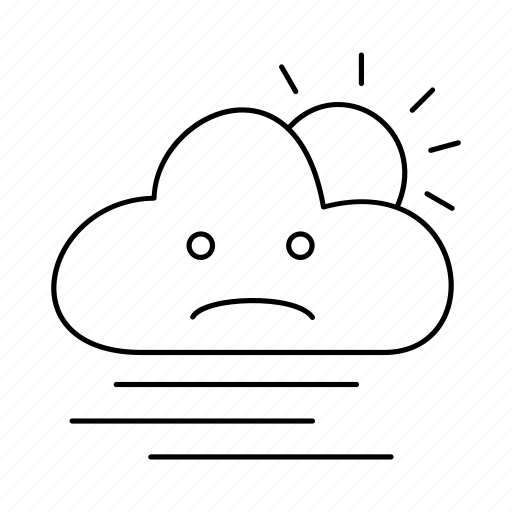 cloud, day, fog, forecast, rain, weather icon