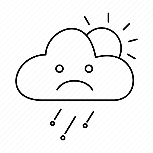 cloud, day, forecast, rain, weather, wind, windy icon
