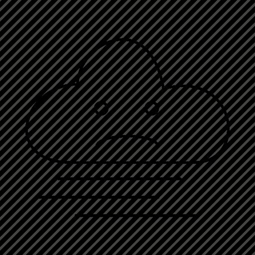 cloud, fog, forecast, rain, weather icon