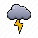 cloud, day, environment, lightning, night, sky, weather