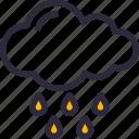 cloud, downpour, forecast, hail, rain, weather icon