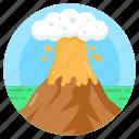 volcano, eruption, lava, mountain explosion, disaster