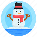 snowman, iceman, snow sculpture, mantle of snow character icon