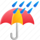 raining, umbrella, weather, cloud icon