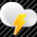 weather, multimedia, thunder, cloud icon