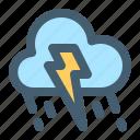 weather, rain, cloud, lightning, storm