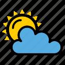cloudiness, cloud, spring, sun, sunny, weather