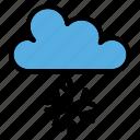 snow, cloud, weather, winter