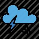 storm, danger, lightning, rain, sky, thunder, weather