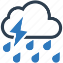 cloud, rain, storm, thunderstorm, weather icon