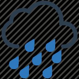 cloud, drops, heavy, rain icon