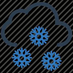 cloud, heavy, snow, snowflakes icon