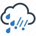cloud, drop, hail, rain icon