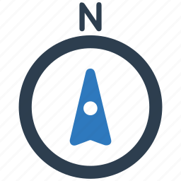 compass, gps, navigation, north, up icon