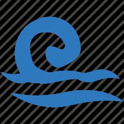 ocean, sea, sea waves, water waves, waves icon