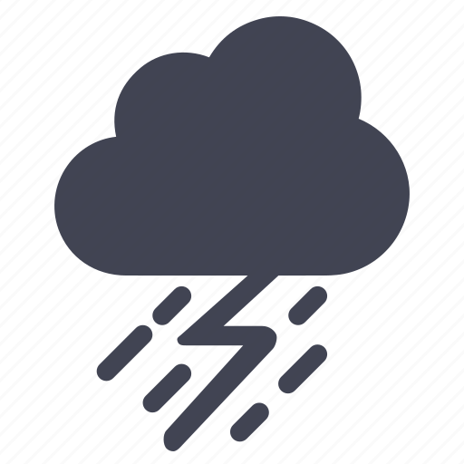 cloud, forecast, lightening, rain, storm, weather icon