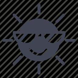 cool, forecast, heat, summer, sun, sunny, weather icon