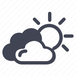 cloudy, forecast, partly, sunny, weather icon