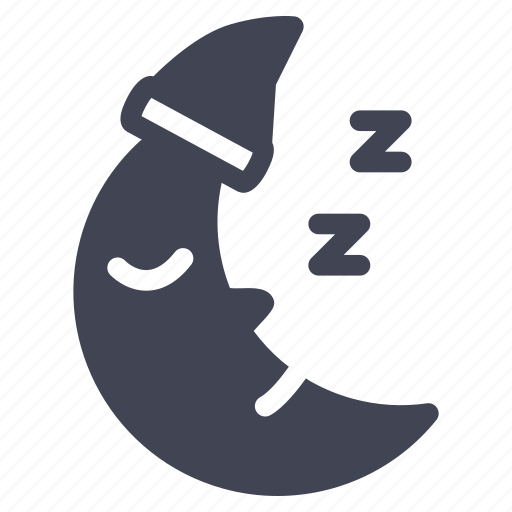 forecast, moon, night, sleepy, weather icon
