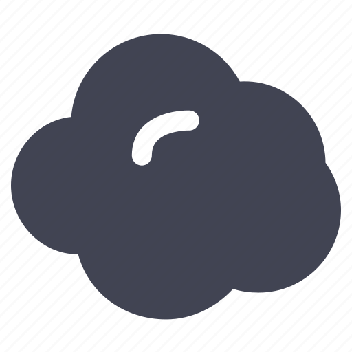 cloud, cloudy, forecast, small, weather icon