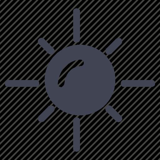 forecast, heat, summer, sun, sunny, weather icon