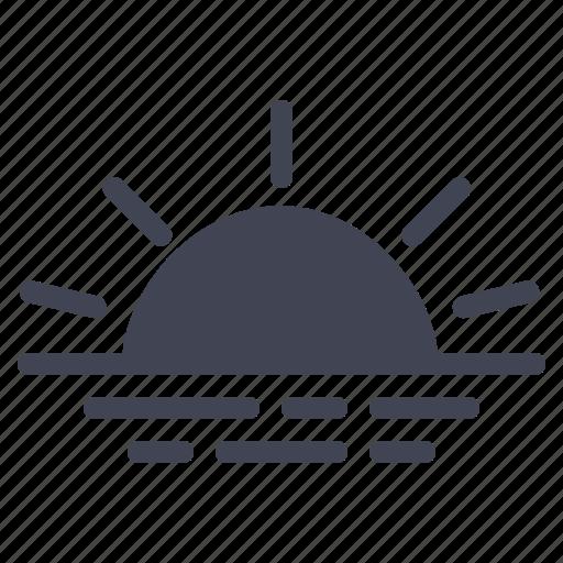 forecast, ocean, sun, sunrise, sunset, weather icon