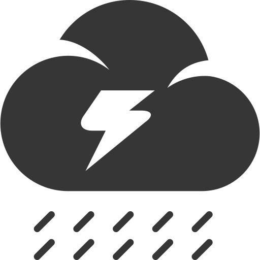 cloud, flash, grey, rain, storm, thunderstorm, weather icon